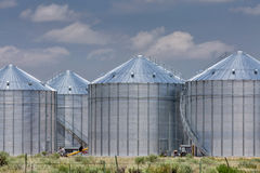 Agriculture storage silos Stock Photo