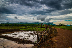 Agriculture Storm Clouds Royalty Free Stock Photography