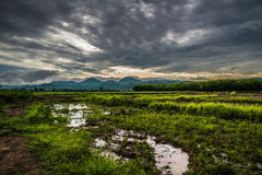 Agriculture Storm Clouds. View agriculture Storm Clouds mountain background Royalty Free Stock Images