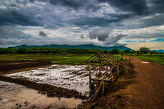 Agriculture Storm Clouds Stock Photography