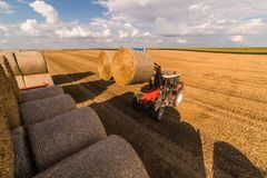 Bale in field Stock Photo