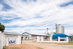 Agriculture supplier with grain silos. JACOBSDAL, SOUTH AFRICA - DECEMBER 24, 2016: An agriculture supplier with grain silos at Rietrivier near Jacobsdal, a Stock Image