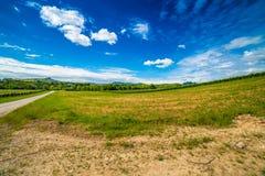 Agriculture sur les collines de la Toscane et du Romagna Apennines Images stock