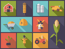 Agriculture symbols vector illustration. Royalty Free Stock Photography