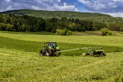 Agriculture tractor machinery Stock Images