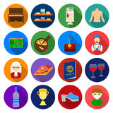 Agriculture, trade, sport and other web icon in flat style.medicine, fast food, travel icons in set collection. Royalty Free Stock Photos