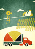 Agriculture truck graph Royalty Free Stock Image