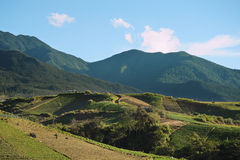 Agriculture valley near Kinabalu Mountain Stock Photography