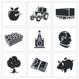 Agriculture Vector Icons Set Stock Photo