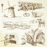 Agriculture, village rural illustration libre de droits