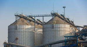 Agriculture Wheat Rice Silo Stock Photography