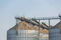 Agriculture wheat rice silo Stock Photo