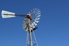 Agriculture windmill. Windmill used in agriculture to pump water to livestock stock photography