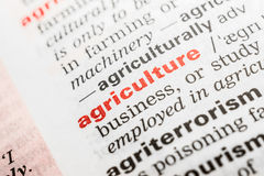 Agriculture Word Definition Stock Image