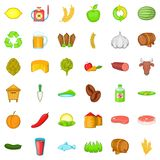 Agriculture working icons set, cartoon style. Agriculture working icons set. Cartoon style of 36 agriculture working vector icons for web isolated on white Royalty Free Stock Photography