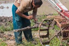 agriculturist remontowy pushcart Zdjęcie Stock