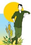 agriculturist szereg pracy Zdjęcie Royalty Free