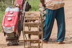 agriculturist zmiany koło Zdjęcia Stock