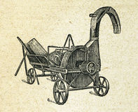 Agriculure machine, vintage engraved illustration Stock Image