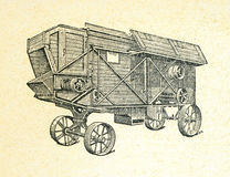 Agriculure machine, vintage engraved illustration Royalty Free Stock Photos