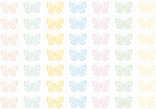 Agrid of colored butterflies.Background. Wallpaper. Colored butterflies on a background grid.Background. Wallpaper stock illustration