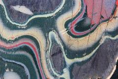 Agriete una pintura del coche del rasguño. Imagen de archivo