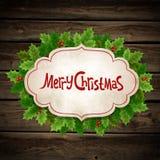 Agrifoglio di Natale Immagini Stock Libere da Diritti