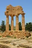 Agrige świątynia Dioscuri Rycynowy i Pollux () Fotografia Royalty Free