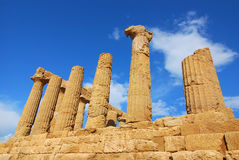 agrigento świątynia Czerwiec Sicily Fotografia Stock