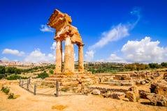 Agrigento świątynia, Sicily, Włochy Obraz Stock