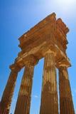 Agrigento - świątynie dolinne Zdjęcia Stock