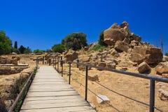 Agrigento - świątynie dolinne Fotografia Royalty Free