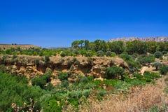 Agrigento - świątynie dolinne Obraz Stock