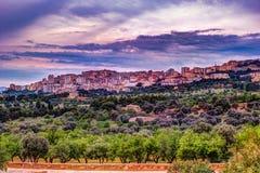 Agrigento, Σικελία ναός του Pollux καστόρων Στοκ εικόνα με δικαίωμα ελεύθερης χρήσης