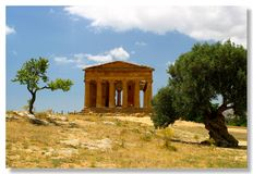 Agrigento. Temple of concord in the vallei of temples in Agrigento-sicily Royalty Free Stock Photo