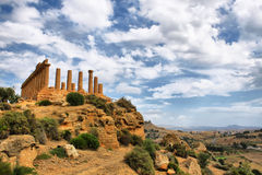 Agrigento. Photo of temple of Agrigento, included into Unesco Heritage List Royalty Free Stock Photo