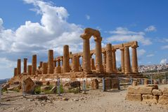Agrigento. Sicilian: Girgenti, is a city on the southern coast of Sicily, Italy, and capital of the province of . It is renowned as the site of the ancient Stock Photography