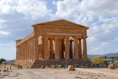 Agrigento. Sicilian: Girgenti, is a city on the southern coast of Sicily, Italy, and capital of the province of . It is renowned as the site of the ancient royalty free stock image