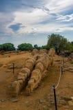 agrigento dei sławnego greckiego heracles dziedzictwa wyspy Italy resztek Sicily miejsca świątynny templi unesco Valle świat Vall Obraz Stock