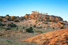 Agrigento, Grecka świątyni dolina, Juno świątyni 480-420 b C , Sicily, Włochy Zdjęcie Stock