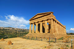 Agrigento greek temple in Sicily Stock Photos