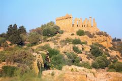 Agrigento, Greek Temples Valley, Juno Temple 480-420 b.C., Sicily, Italy Royalty Free Stock Photo