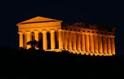 agrigento grekiskt sicily tempel Arkivfoton