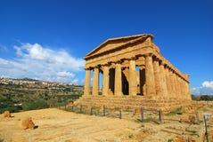 Agrigento/Griekse tempel van Concordia Stock Foto's
