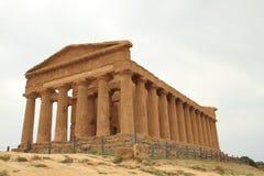 agrigento harmoniitaly sicily tempel royaltyfria bilder