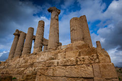 Agrigento, Italy - October 15, 2009: ancient Greek landmark in t Royalty Free Stock Image