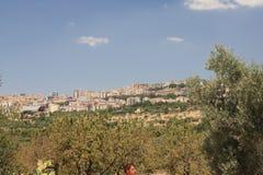 Agrigento, panoramiczny widok miasteczko Zdjęcie Royalty Free