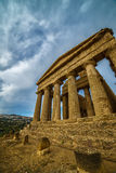 Agrigento, Sicily island in Italy. Famous Valle dei Templi, UNESCO World Heritage Site. Greek temple - remains of the Temple of Co Stock Photo