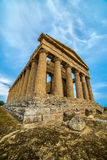 Agrigento, Sicily island in Italy. Famous Valle dei Templi, UNESCO World Heritage Site. Greek temple - remains of the Temple of Co Royalty Free Stock Photography