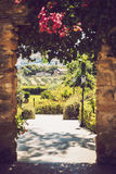 AGRIGENTO, SICILY, ITALY - 02 AUGUST 2013: A garden of Sicilian Royalty Free Stock Image